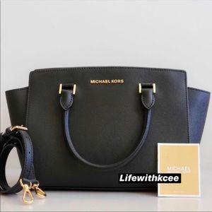 New Michael Kors Selma MD TZ Satchel Leather bag